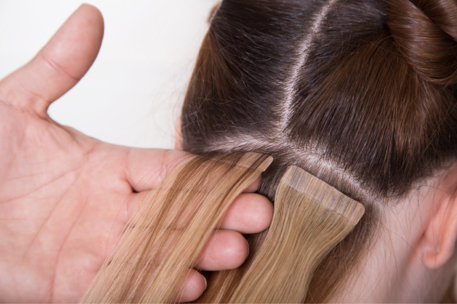 At Alter'd Culture in Louisville, KY our stylists are trained to place all types of extensions including tape-ins.