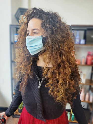 At our salon in Louisville, KY we can teach you how to maintain colored hair by using heat protectants to avoid dry out and frizz.