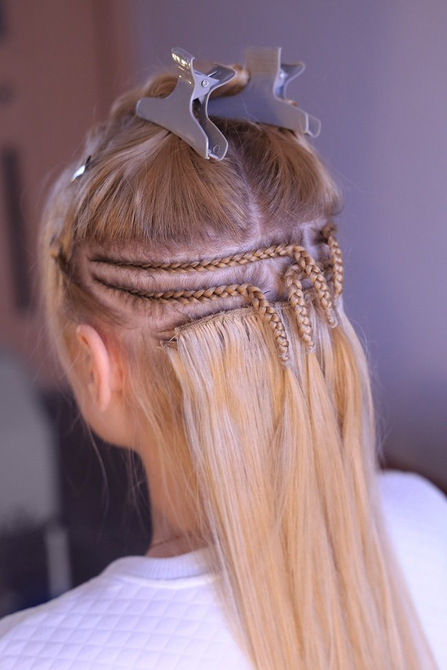 Sew-ins are types of hair extensions that can take a long time to put in place.
